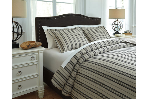 Navarre 3-Piece Queen Duvet Cover Set by Ashley HomeStore...