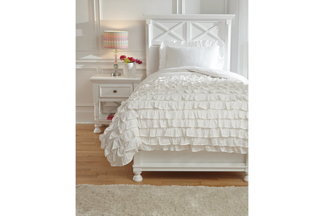 Aaronas 2-Piece Twin Duvet Cover Set, White, large