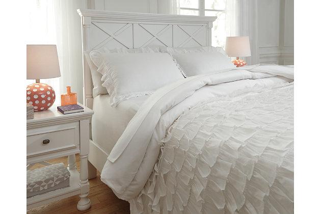 Aaronas 3-Piece Full Duvet Cover Set, White, large