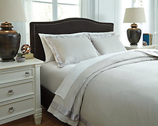Farday 3-Piece Queen Duvet Cover Set, Natural, large