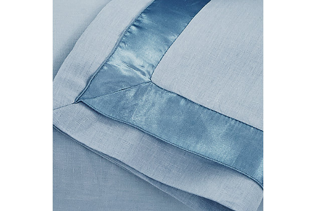 Farday 3-Piece Queen Duvet Cover Set, Soft Blue, large