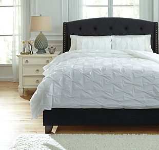 Rimy 3-Piece King Comforter Set, White, large