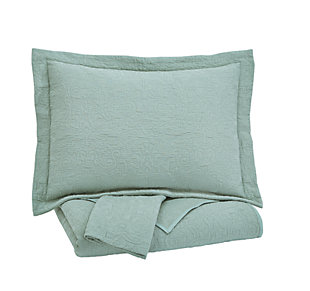 Bazek 3-Piece Queen Coverlet Set, Sage Green, large