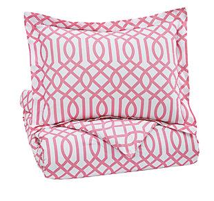 Loomis 2-Piece Twin Comforter Set, Pink, large