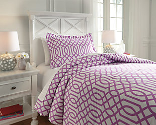 Loomis 2-Piece Twin Comforter Set, Lavender, rollover
