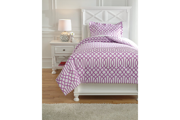 Loomis 2-Piece Twin Comforter Set, Lavender, large