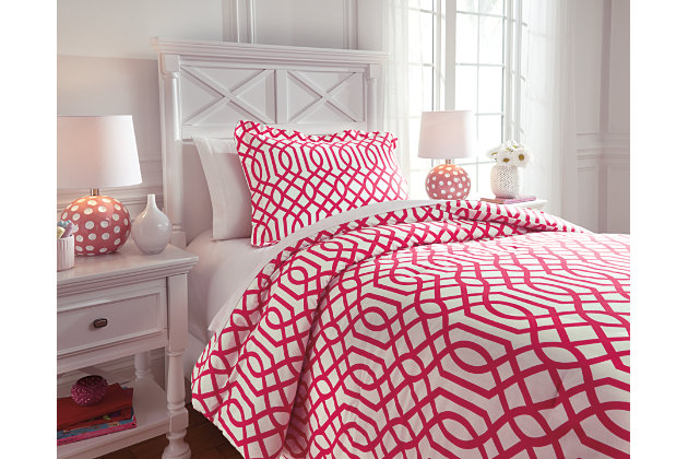 fuchsia loomis 2piece twin comforter set view 1