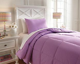 Plainfield 2-Piece Twin Comforter Set, Lavender, rollover