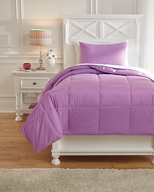 Plainfield 2-Piece Twin Comforter Set, Lavender, large