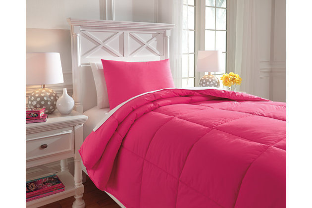 Plainfield 2-Piece Twin Comforter Set, Magenta, large