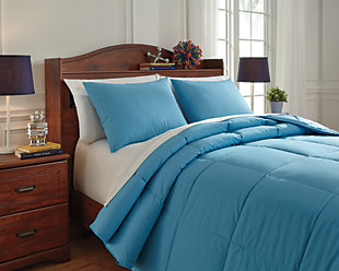 Plainfield 3-Piece Full Comforter Set, Aqua, large