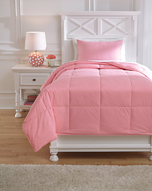 Plainfield 2-Piece Twin Comforter Set, Pink, large