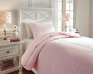 Plainfield 2-Piece Twin Comforter Set, Soft Pink, rollover