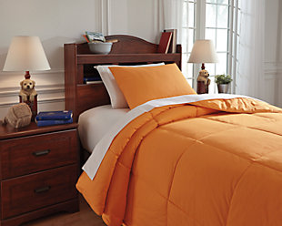 Plainfield 2-Piece Twin Comforter Set, Orange, rollover