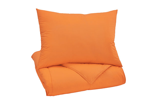 Plainfield 2-Piece Twin Comforter Set, Orange, large