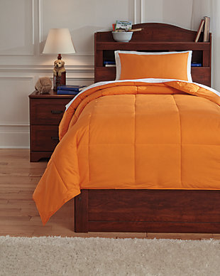Plainfield 2-Piece Twin Comforter Set, Orange, large