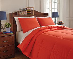 Plainfield 3-Piece Full Comforter Set, Red, large