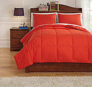 Plainfield 3-Piece Full Comforter Set, Red, large