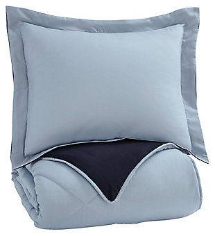 Massey 2-Piece Twin Comforter Set, Blue, large