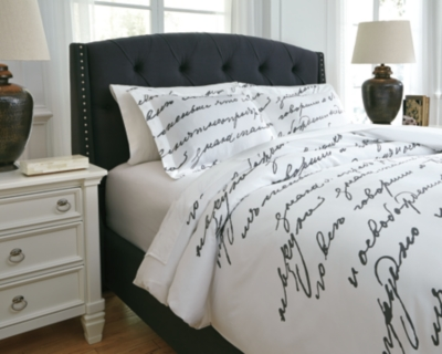 Trustworthy Queen Duvet Cover Set White Gray Piece Product Photo