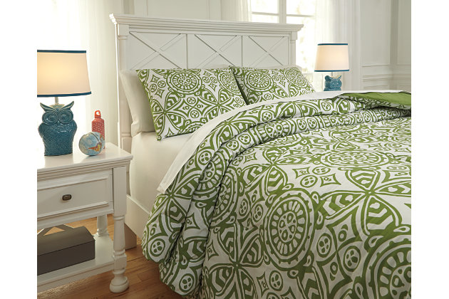 Ina 3-Piece Full Comforter Set by Ashley HomeStore, Green...