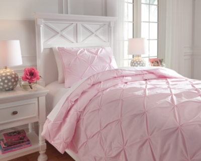 Ashley Medera 2-Piece Twin Comforter Set, Rose