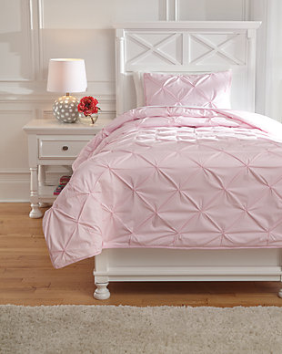 Medera 2-Piece Twin Comforter Set, Rose, large