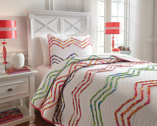Lacentera 2-Piece Twin Quilt Set, Multi, rollover