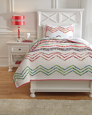 Lacentera 2-Piece Twin Quilt Set, Multi, large