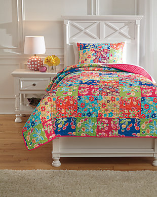 Belle Chase 2-Piece Twin Quilt Set, Patch, large