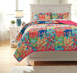 Belle Chase 3-Piece Full Quilt Set, , large