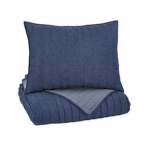 Capella 2-Piece Twin Quilt Set, Denim, large