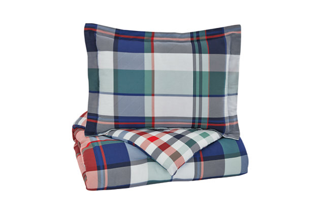 Mannan 2-Piece Twin Comforter Set, Plaid, large