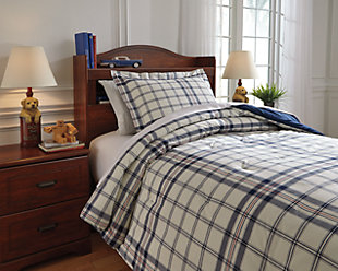 Derick 2-Piece Twin Comforter Set, Plaid, rollover