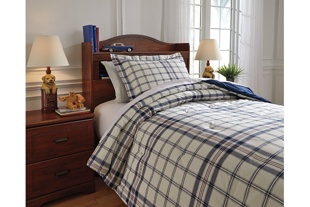 Derick 2-Piece Twin Comforter Set by Ashley HomeStore, Plaid