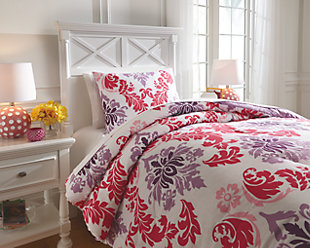 Ventress 2-Piece Twin Comforter Set, Berry, rollover
