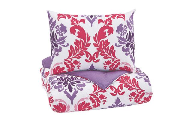 Ventress 2-Piece Twin Comforter Set, Berry, large