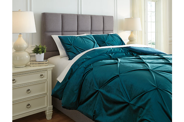 Meilyr 3-Piece Queen Comforter Set, Spruce, large