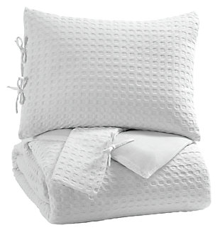 Maurilio 3-Piece King Comforter Set, White, large