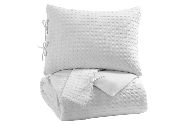 Maurilio 3-Piece Queen Comforter Set, White, large
