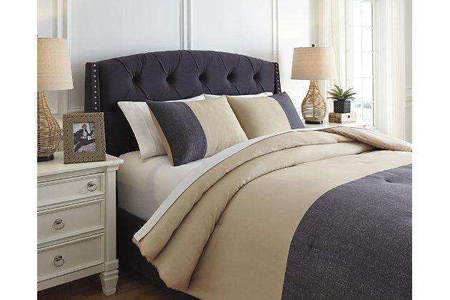 Medi 3 Piece Queen Comforter Set Ashley Furniture Homestore