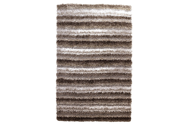 "Wilkes 5' x 7'9"" Rug by Ashley HomeStore, Gray, Polyester..."