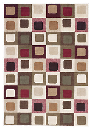 "Sloane 5' x 7'4"" Rug, Red, large"
