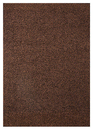 Caci 5' x 7' Rug, Chocolate, large