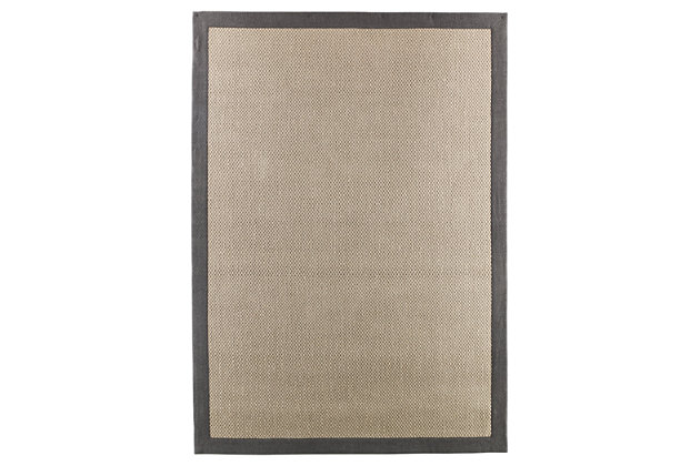Delta City 5' x 7' Rug by Ashley HomeStore, Gray, Jute (100 %)