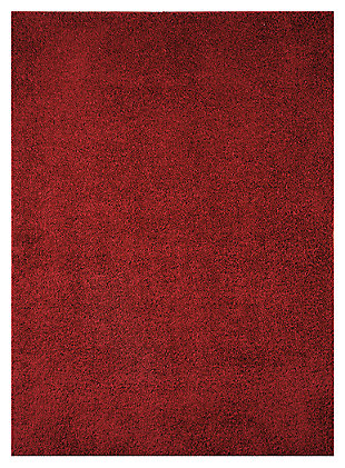 Caci 5' x 7' Rug, Red, large