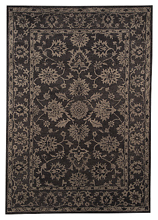 Iwan 5' x 8' Rug, Chocolate, large