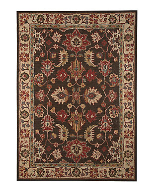 Stavens 8' x 10' Rug, Brown, large