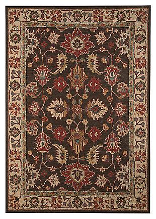 Stavens 5' x 8' Rug, Brown, large