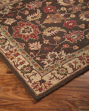 Stavens 5' x 8' Rug, Brown, rollover